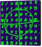 Zodiac Killer Code And Sign 20130213p128 Canvas Print by Wingsdomain Art and Photography