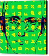 Zodiac Killer With Code And Sign 20130213 Canvas Print by Wingsdomain Art and Photography