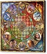 Zodiac Mandala Canvas Print