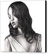 Zoe Saldana Canvas Print