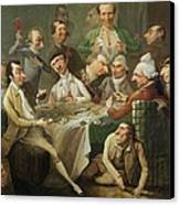 A Caricature Group Canvas Print by John Hamilton Mortimer