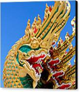 Asian Temple Dragon   Canvas Print by Panyanon Hankhampa
