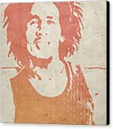 Bob Marley Brown Canvas Print by Naxart Studio