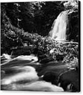 Gleno Or Glenoe Waterfall Beauty Spot County Antrim Northern Ireland Canvas Print by Joe Fox