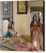 Life In The Harem - Cairo Canvas Print by John Frederick Lewis