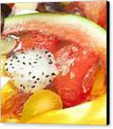 Mixed Fruit Watermelon Canvas Print by Anek Suwannaphoom