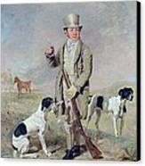 Richard Prince With Damon - The Late Colonel Mellish's Pointer Canvas Print by Benjamin Marshall