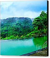 Scenery Of Mount Rinjani Canvas Print by Vidka Art