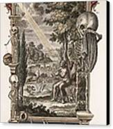 1731 Johann Scheuchzer Creation Of Man Canvas Print