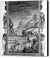 1731 Johann Scheuchzer Noah's Ark Flood Canvas Print by Paul D Stewart
