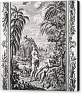 1731 Scheuchzer Creation Adam & Eve Canvas Print