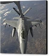 A Chilean Air Force F-16 Refuels Canvas Print