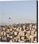 A View Of Amman, Jordan Canvas Print by Taylor S. Kennedy
