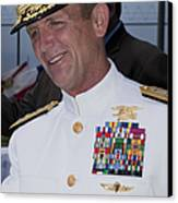 Admiral Eric T. Olson Speaks Canvas Print by Michael Wood