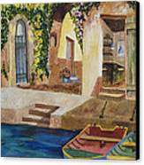 Afternoon At The Piazzo Canvas Print