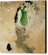 Aral Sea Canvas Print by NASA / Science Source