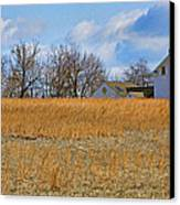 Artist In Field Canvas Print by William Jobes