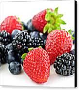 Assorted Fresh Berries Canvas Print