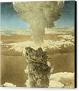 Atomic Bombing Of Nagasaki Canvas Print by Omikron