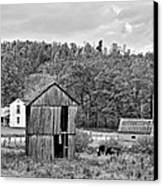 Autumn Farm Monochrome Canvas Print by Steve Harrington