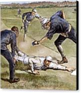 Baseball Game, 1885 Canvas Print by Granger