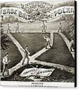 Baseball Polka, 1867 Canvas Print
