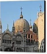 Basilica San Marco Canvas Print by Bernard Jaubert