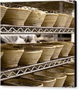 Baskets At A Bakery Canvas Print