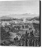 Battle Of Molino Del Rey Canvas Print by Granger