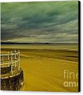 Beach Of Leight Edinburgh Canvas Print by Elena Mussi