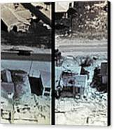 Before And After Hurricane Eloise 1975 Canvas Print