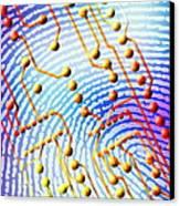 Biometric Fingerprint Scan Canvas Print by Pasieka