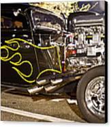 Black Hot Rod Big Engine Canvas Print
