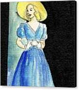Blue Gown Canvas Print by Mel Thompson