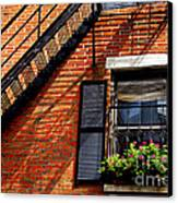 Boston House Fragment Canvas Print by Elena Elisseeva