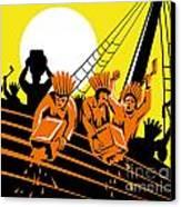 Boston Tea Party Raiders Retro Canvas Print by Aloysius Patrimonio