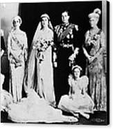 British Royal Family. Seated, From Left Canvas Print