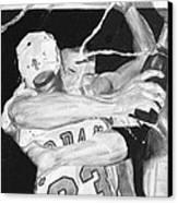 Bulls Celebration Canvas Print by Tamir Barkan
