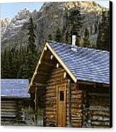 Cabin In Yoho National Park, Lake Canvas Print