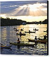 Canoeing Canvas Print by Elena Elisseeva