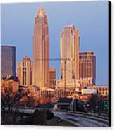 Charlotte Skyline At Sunrise Canvas Print