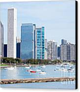 Chicago Skyline Lakefront Canvas Print by Paul Velgos