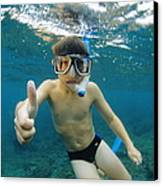 Child Snorkelling Canvas Print by Alexis Rosenfeld
