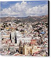 City Of Guanajuato From The Pipila Overlook At Dusk Canvas Print