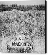 clan mackintosh memorial stone on Culloden moor battlefield site highlands scotland Canvas Print by Joe Fox