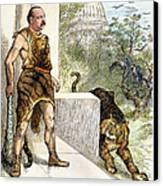 Cleveland Cartoon, 1884 Canvas Print by Granger