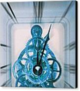 Clock Mechanism Canvas Print by Victor De Schwanberg