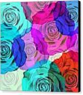 Colorful Roses Design Canvas Print by Setsiri Silapasuwanchai