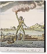 Colossus Of Rhodes Canvas Print by Granger