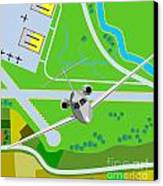 Commercial Jet Plane Canvas Print by Aloysius Patrimonio